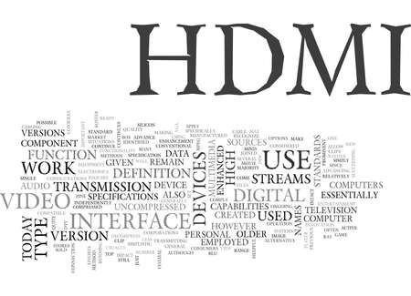 WHAT IS HDMI TEXT WORD CLOUD CONCEPT 向量圖像