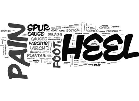 WHAT IS HEEL PAIN TEXT WORD CLOUD CONCEPT