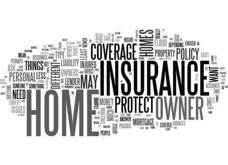 WHAT IS HOME OWNERS INSURANCE TEXT WORD CLOUD CONCEPT