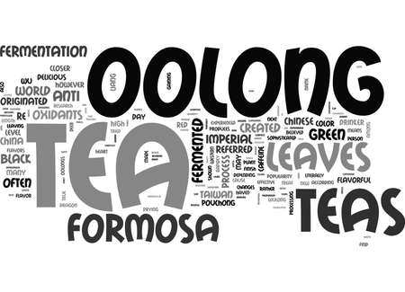 WHAT IS IMPERIAL FORMOSA OOLONG TEA TEXT WORD CLOUD CONCEPT