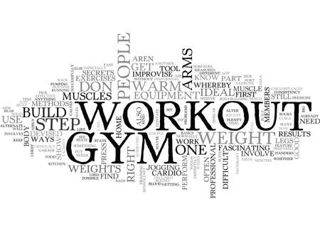 YOUR NO GYM WORKOUT TEXT WORD CLOUD CONCEPT