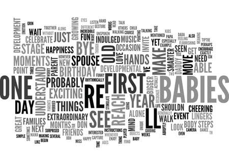 exciting: YOUR ONE YEAR OLD S DEVELOPMENT TEXT WORD CLOUD CONCEPT