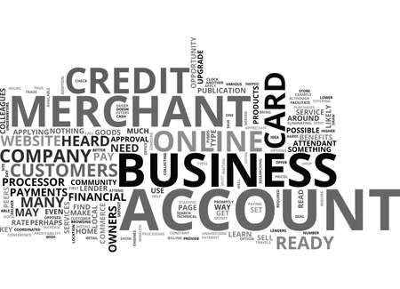 YOUR ONLINE BUSINESS MERCHANT ACCOUNT TEXT WORD CLOUD CONCEPT