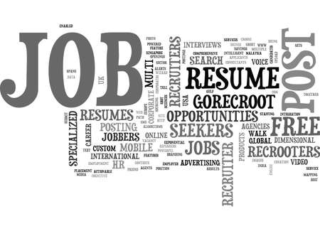 WHAT IS IN IT FOR ME THE JOBBERS JOB SEEKERS TEXT WORD CLOUD CONCEPT