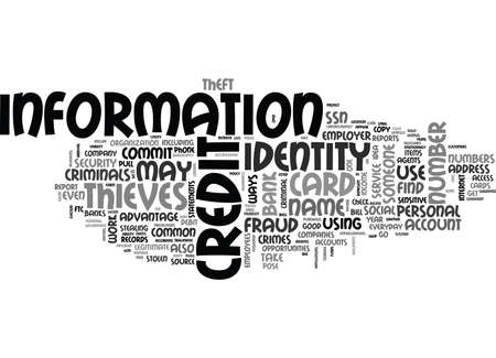 WHAT ARE THE MOST COMMON WAYS TO COMMIT IDENTITY THEFT OR FRAUD TEXT WORD CLOUD CONCEPT Banco de Imagens - 79571024