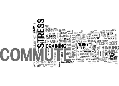 WHAT IS IT ABOUT THE COMMUTE THAT DRAINS ME TEXT WORD CLOUD CONCEPT