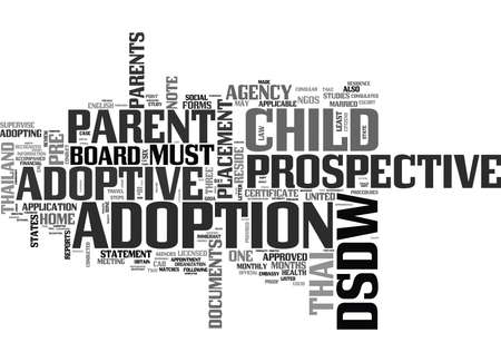 WHAT ARE THE PROCEDURES TO ADOPT A THAI CHILD TEXT WORD CLOUD CONCEPT