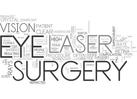 레이저 수술이란 무엇이며 어떻게하면 클라우드 개념을 텍스트로 도울 수 있습니까? 일러스트