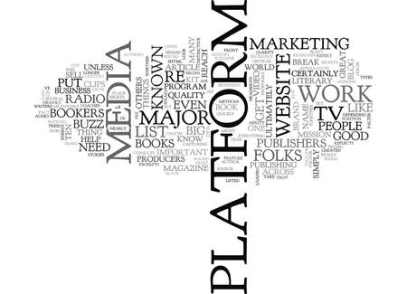 YOUR PLATFORM AND WHY IT CAN MAKE OR BREAK YOUR BUSINESS TEXT WORD CLOUD CONCEPT