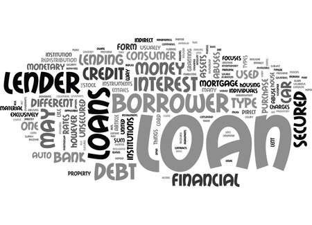 WHAT IS LOAN TEXT WORD CLOUD CONCEPT
