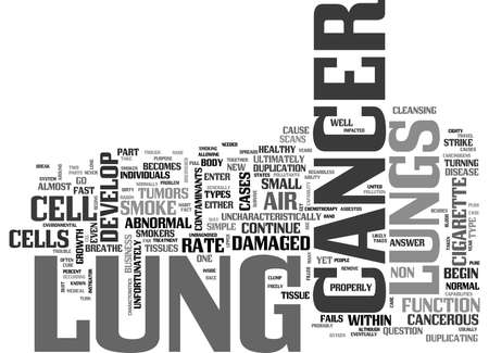 WHAT IS LUNG CANCER AND WHO CAN GET IT TEXT WORD CLOUD CONCEPT
