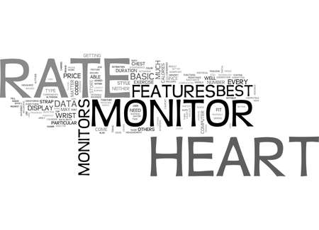 BEST HEART RATE MONITOR FOR YOU TEXT WORD CLOUD CONCEPT Vectores