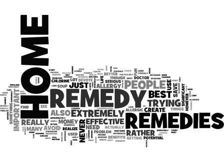 BEST HOME REMEDIES TEXT WORD CLOUD CONCEPT