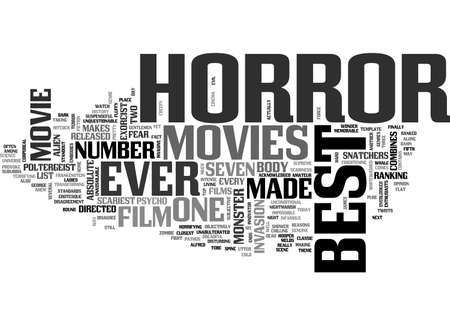 BEST HORROR MOVIES TEXT WORD CLOUD CONCEPT