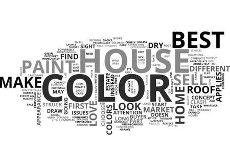 BEST HOUSE COLOR TO SELL TEXT WORD CLOUD CONCEPT