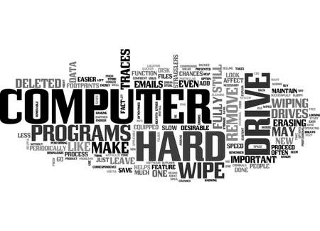 BEST INFO TO WIPE HARD DRIVES TEXT WORD CLOUD CONCEPT Ilustrace