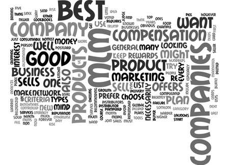 BEST MLM COMPANIES HOW TO FIND THEM TEXT WORD CLOUD CONCEPT