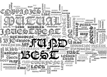 BEST MUTUAL FUND COMPANIES TEXT WORD CLOUD CONCEPT