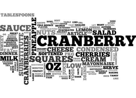 最高レシピ クランベリー サラダ正方形テキスト WORD クラウド コンセプト