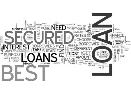 BEST SECURED LOANS BETTER THAN THE BEST TEXT WORD CLOUD CONCEPT