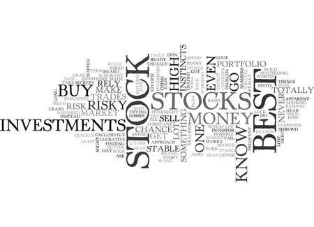 BEST STOCK TEXT WORD CLOUD CONCEPT