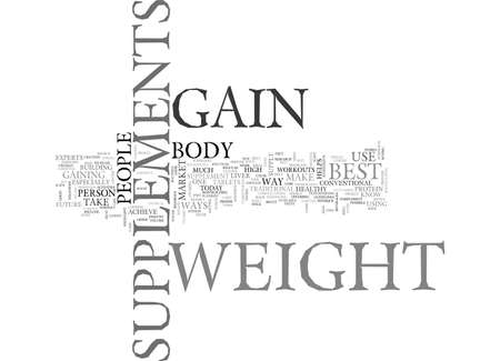 BEST SUPPLEMENTS TO GAIN WEIGHT TEXT WORD CLOUD CONCEPT 向量圖像