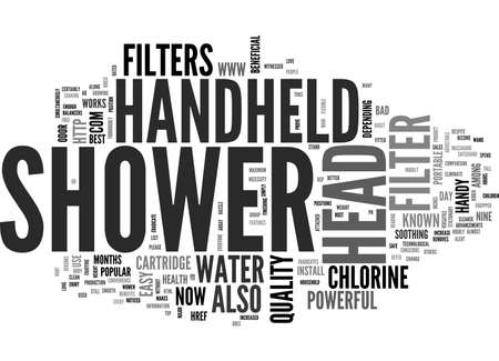 BEST TOP RATED HANDHELD SHOWER HEAD TEXT WORD CLOUD CONCEPT