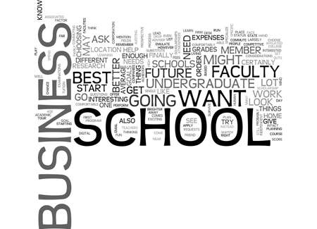 BEST UNDERGRADUATE BUSINESS SCHOOLS TEXT WORD CLOUD CONCEPT