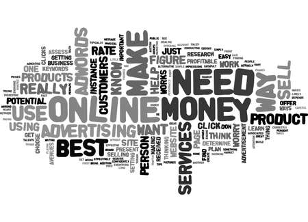 BEST WAY TO MAKE MONEY ONLINE WHAT IT TAKES TEXT WORD CLOUD CONCEPT