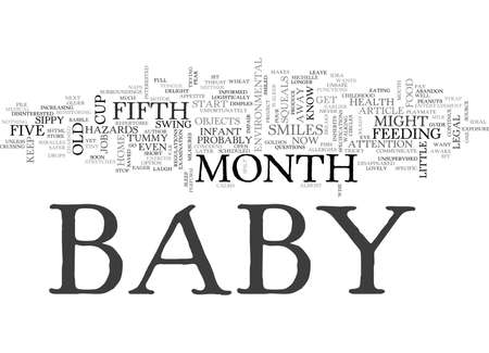 YOUR LITTLE GOURMET BABY S FIFTH MONTH GUIDE TEXT WORD CLOUD CONCEPT