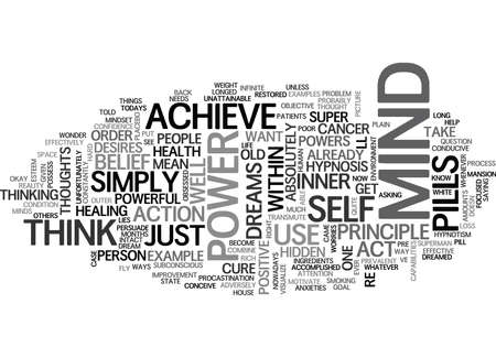 YOUR MIND AND ITS SUPER POWERS HIDDEN WITHIN TEXT WORD CLOUD CONCEPT