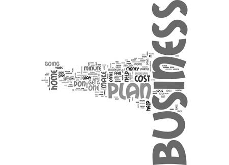 YOUR MINUTE HOME BUSINESS PLAN TEXT WORD CLOUD CONCEPT Ilustração