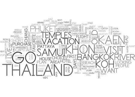 northeast: WHERE TO GO IN THAILAND TEXT WORD CLOUD CONCEPT