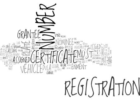 personalised: YOUR PERSONALISED NUMBER PLATE EXPLAINED CERTIFICATE OF ENTITLEMENT TEXT WORD CLOUD CONCEPT