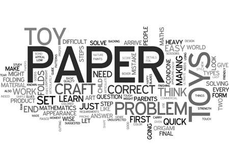 YOUR QUICK GUIDE TO LEARN THE ART OF PAPER CRAFT TEXT WORD CLOUD CONCEPT