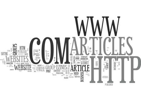 WHERE TO POST AND READ ARTICLES ONLINE TEXT WORD CLOUD CONCEPT