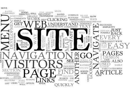 lyn: YOUR SITE MADE EASY TEXT WORD CLOUD CONCEPT Illustration