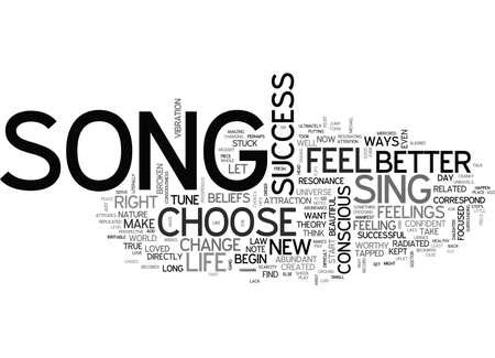 YOUR SONG IS YOUR SUCCESS TEXT WORD CLOUD CONCEPT Ilustração