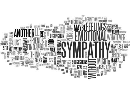 syphilis: WHERE YOU CAN FIND SYMPATHY TEXT WORD CLOUD CONCEPT