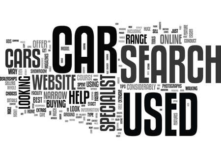 YOUR USED CARS SEARCH IS QUICKER WHEN CONDUCTED ONLINE TEXT WORD CLOUD CONCEPT