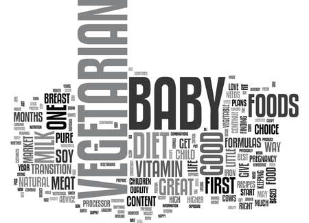 YOUR VEGETARIAN BABY TEXT WORD CLOUD CONCEPT