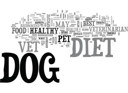 YOUR VET THE PERFECT RESOURCE TO EDUCATE YOU ABOUT YOUR DOGS DIET TEXT WORD CLOUD CONCEPT
