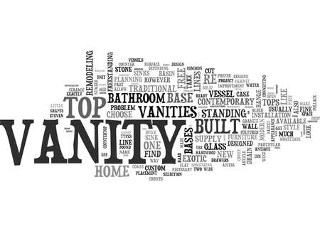WHICH BATHROOM VANITY IS FOR YOU TEXT WORD CLOUD CONCEPT Illustration