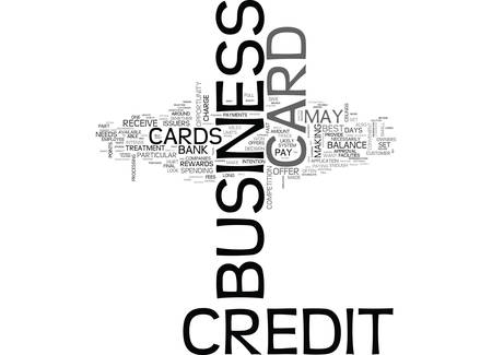 WHICH BUSINESS CREDIT CARD IS BEST FOR YOU TEXT WORD CLOUD CONCEPT