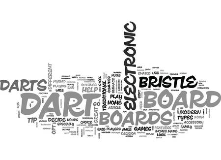 WHICH DART BOARD BRISTLE VS ELECTRONIC DART BOARDS TEXT WORD CLOUD CONCEPT Illustration