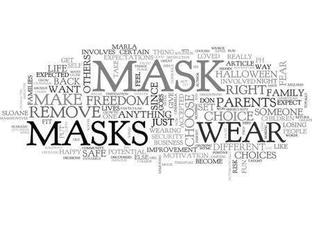 discovered: WHO S BEHIND THE MASK TEXT WORD CLOUD CONCEPT Illustration