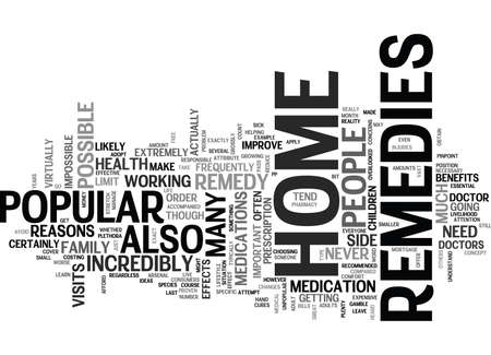 WHY HOME REMEDIES ARE POPULAR TEXT WORD CLOUD CONCEPT Illustration