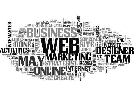 WHO S ON YOUR WEB TEAM TEXT WORD CLOUD CONCEPT