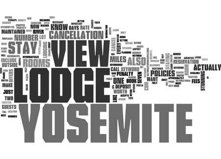 YOSEMITE VIEW LODGE TEXT WORD CLOUD CONCEPT Illusztráció