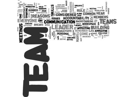 WHEN TEAMS DON T WORK MAJOR REASONS TEXT WORD CLOUD CONCEPT